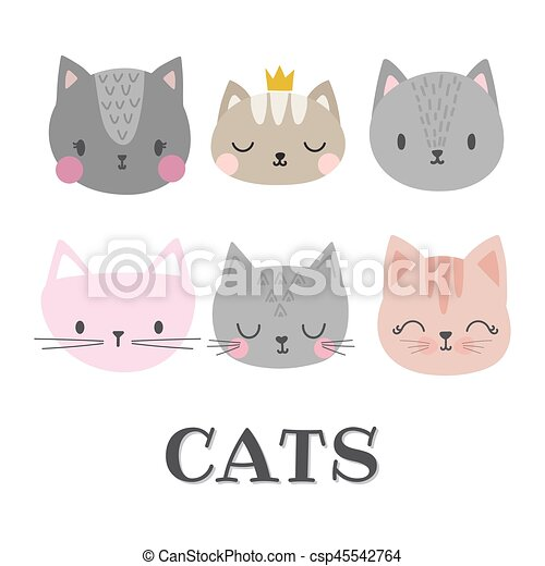 Rigolote Style Ensemble Chatons Griffonnage Cats Animals Mignon Dessin Anime