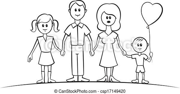 Rigolote vecteur dessin anim famille rigolote family - Dessin anime de la famille pirate ...