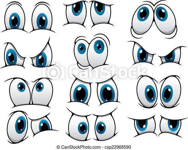 rigolote, yeux, ensemble, dessin animé - csp22968590