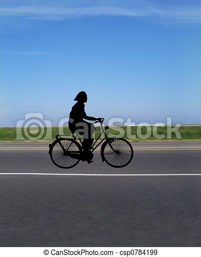 rijden, fiets - csp0784199