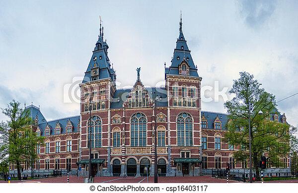 Rijksmuseum in Amsterdam - csp16403117