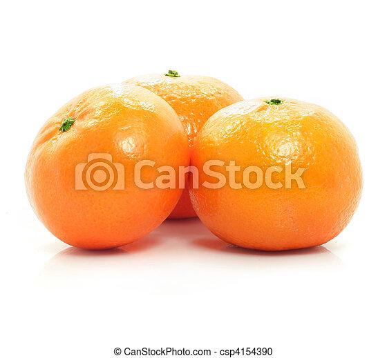 rijp, voedingsmiddelen, vrijstaand, achtergrond, vruchten, witte , mandarine - csp4154390