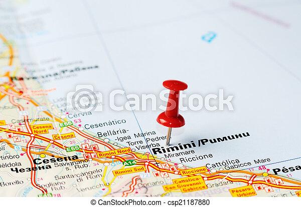 Rimini Terkep Olaszorszag Rimini Terkep Fogalom Olaszorszag