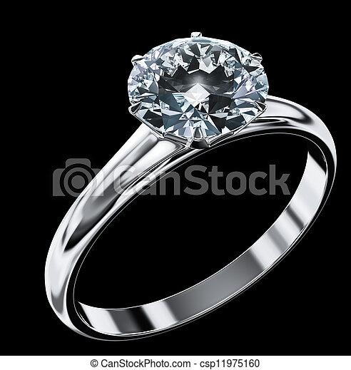Diamantring - csp11975160
