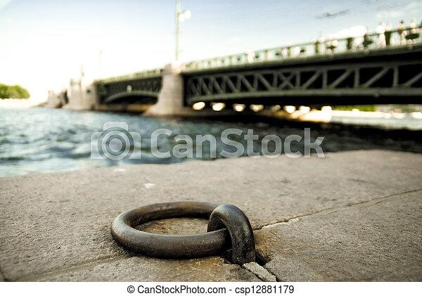 ring, stein, anlegeplatz, böschung - csp12881179