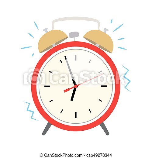 ringing alarm clock flat ringing red alarm clock wake up eps rh canstockphoto ie free clipart alarm clock ringing