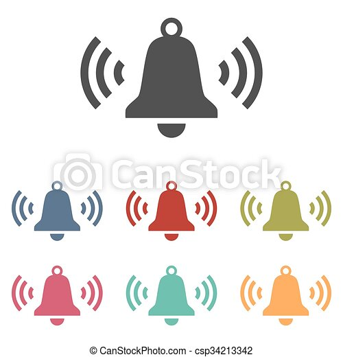 Ringing bell icons set - csp34213342
