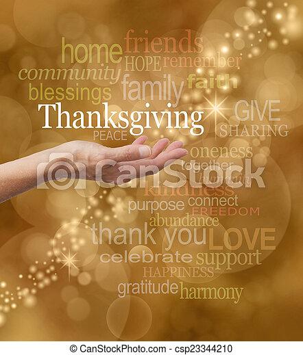 ringraziamento, celebrare - csp23344210