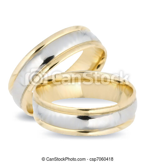 rings., ベクトル, 金, 結婚式 - csp7060418