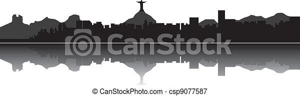 Rio de Janeiro brazil skyline - csp9077587