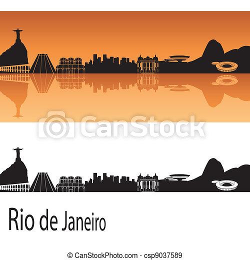 Rio de Janeiro skyline - csp9037589