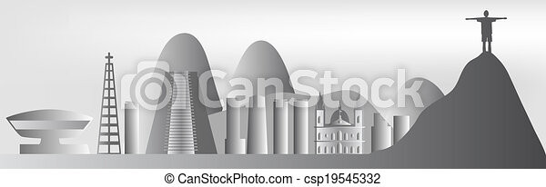 Rio de Janeiro skyline - csp19545332