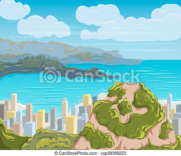 Rio de Janeiro skyline. - csp39389223