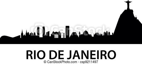 Rio de Janeiro Skyline - csp9211497