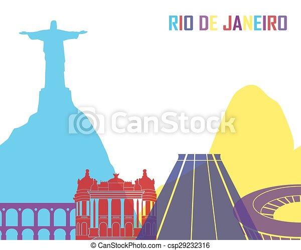 Rio de Janeiro skyline pop - csp29232316