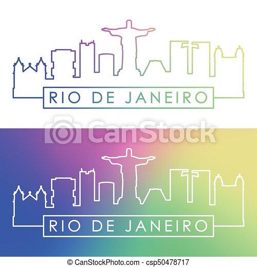 Rio De Janeiro skyline. - csp50478717