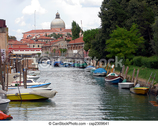 Rio Dei Giardini Italie Venise Photographie De Stock