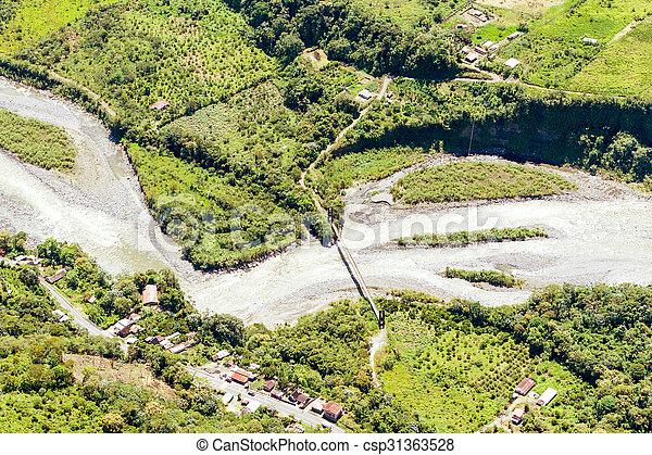 Rio Negro Tungurahua Aerial Shot - csp31363528