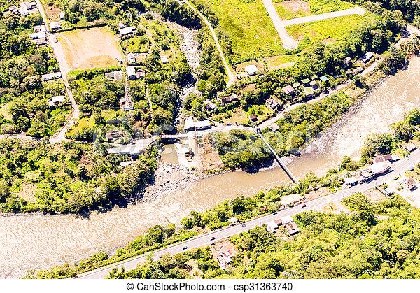 Rio Negro Tungurahua Aerial Shot - csp31363740