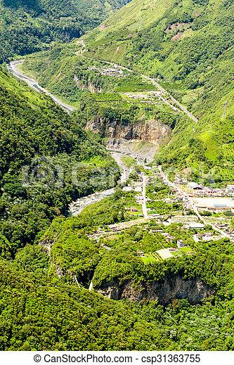Rio Verde Tungurahua Aerial Shot - csp31363755