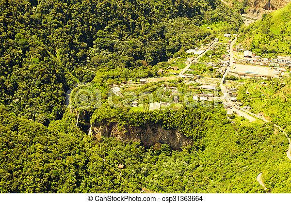 Rio Verde With Pailon Del Diablo Waterfall - csp31363664