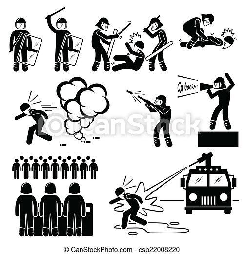 Riot Police Cliparts - csp22008220