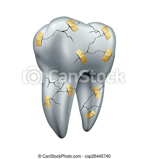 riparazione, dente - csp26445740