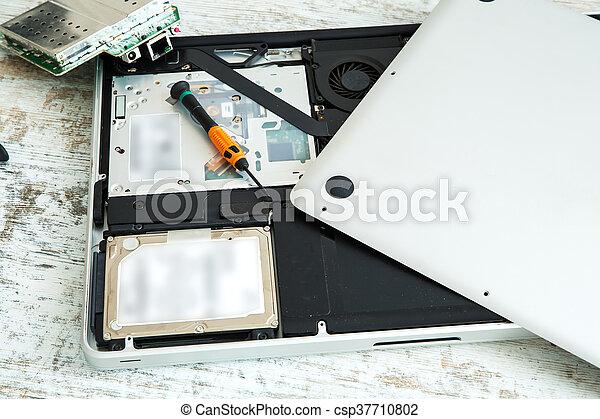 riparazione, laptop - csp37710802