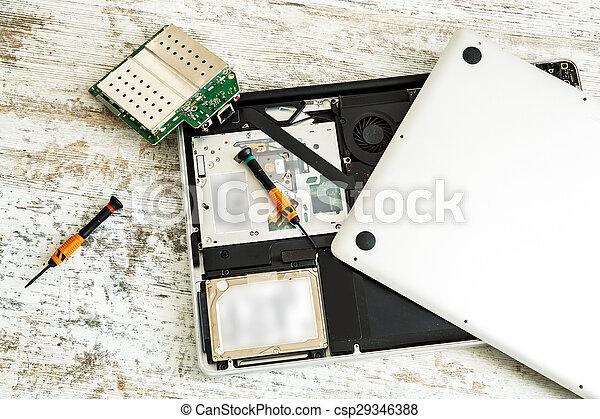 riparazione, laptop - csp29346388