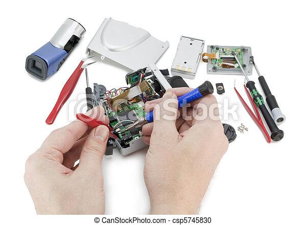 riparazione, macchina fotografica, video digitale - csp5745830