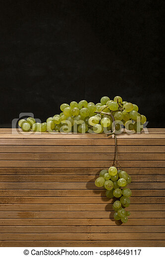 Ripe big bunch of grapes of sultana - csp84649117