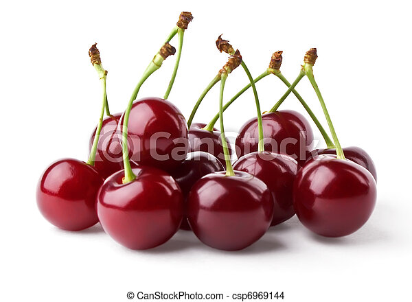Ripe cherries hill - csp6969144