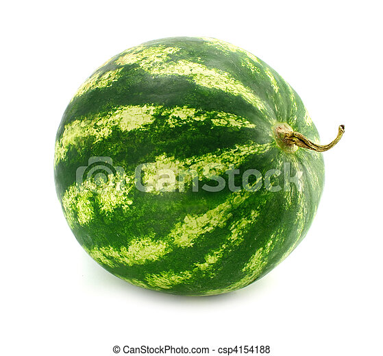 ripe fruit water-melon isolated - csp4154188