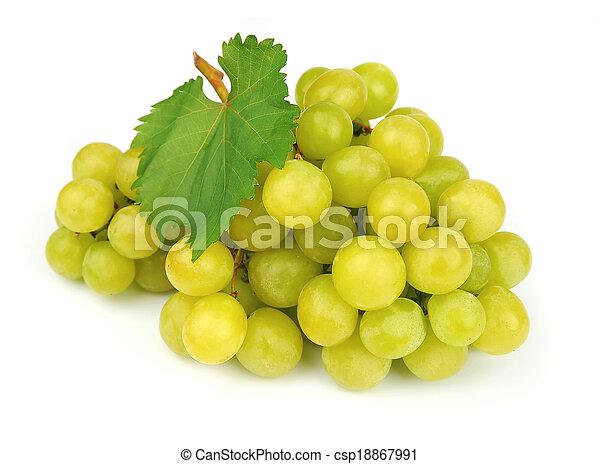 Ripe green grapes - csp18867991