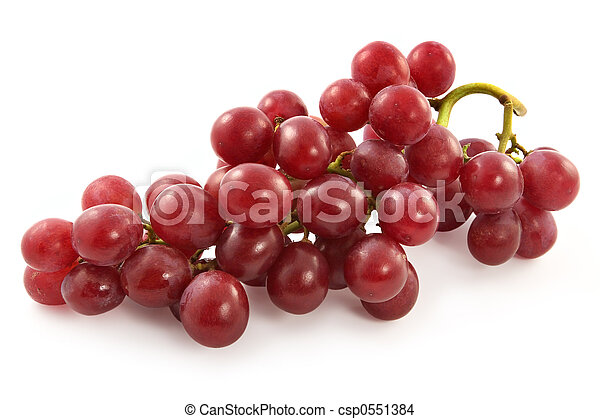 Ripe juicy red grapes with large berries - csp0551384