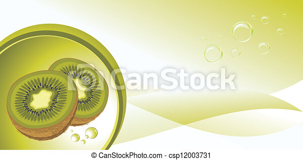 Ripe kiwi fruit. Background - csp12003731