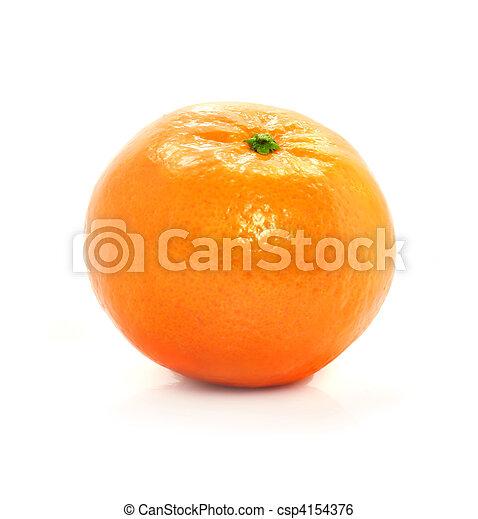 ripe mandarine fruit isolated food on white background - csp4154376