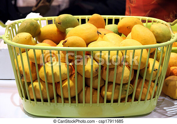 good out x thoughts on outlet store sale Ripe mango put in the green basket.