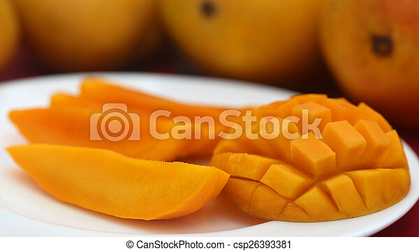 Ripe mangoes - csp26393381