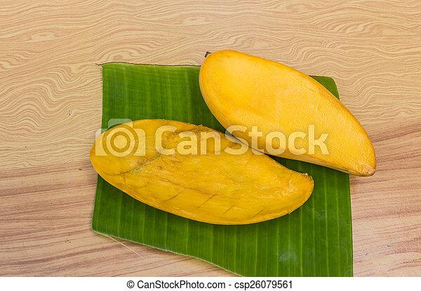 ripe mangoes - csp26079561