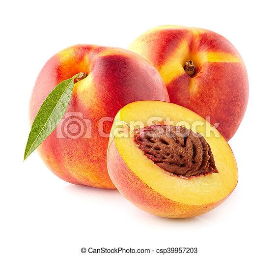 Ripe nectarine - csp39957203
