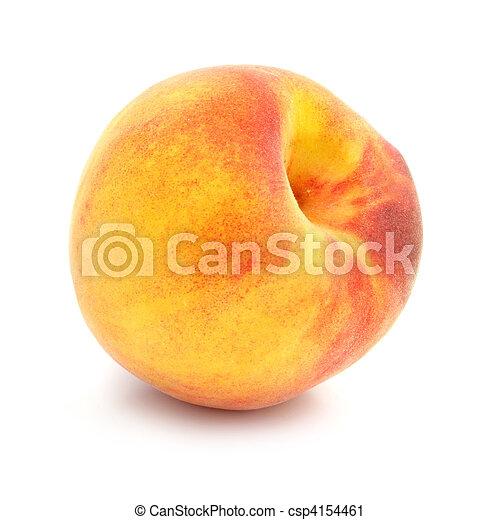 ripe peach fruit isolated - csp4154461