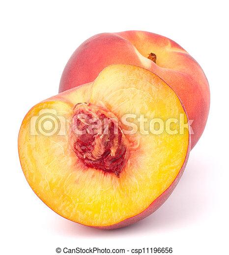 Ripe peach fruit - csp11196656
