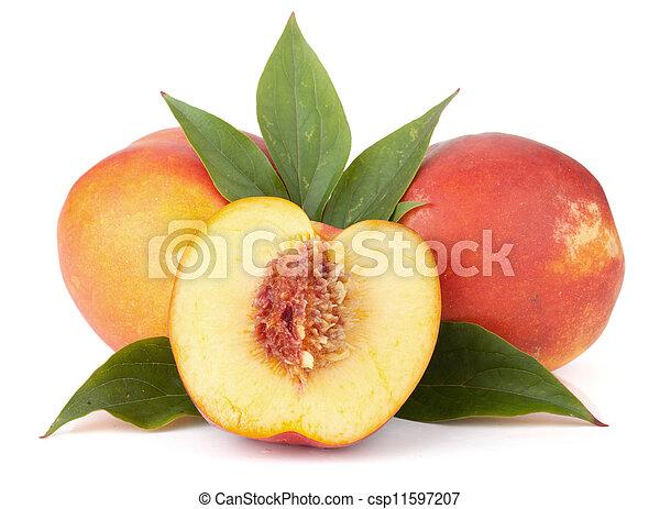 Ripe peach fruits - csp11597207