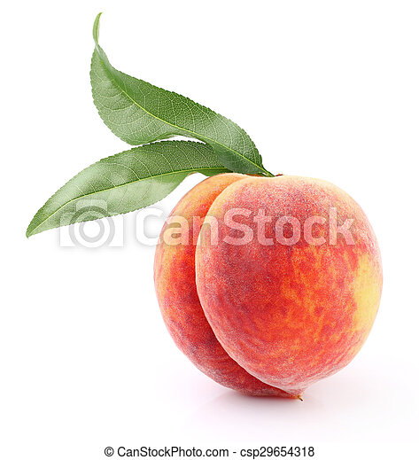 Ripe peach - csp29654318
