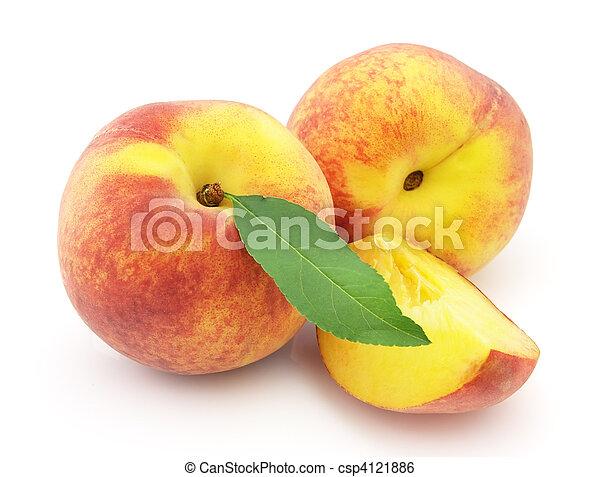 Ripe peach - csp4121886