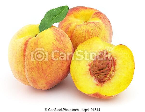 Ripe peach - csp4121844