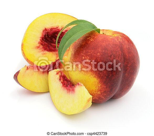 Ripe peach - csp4423739