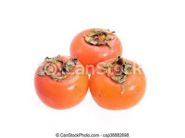 ripe persimmons - csp38882698