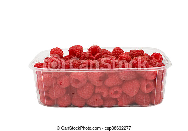 ripe raspberries - csp38632277